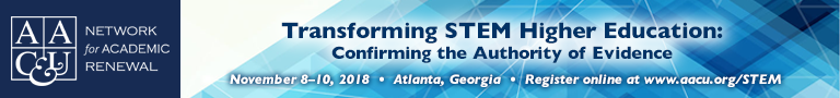 AAC&U 2018 Transforming STEM Higher Education November 8-10, 2018 (Banner Ad)