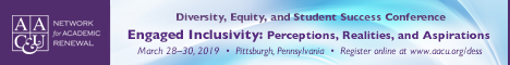 AAC&U 2019 Diversity, Equity, and Student Success Engaged Inclusivity: Perceptions, Realities, and Aspirations March 28, 2019 to March 30, 2019 (Banner Ad)