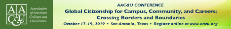 2019 AAC&U Global Citizenship for Campus, Community, and Careers: Crossing Borders and Boundaries Conference (Banner Ad)
