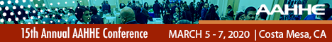 AAHHE 15th Annual National Conference | March 5-7, 2020 (Banner Ad)