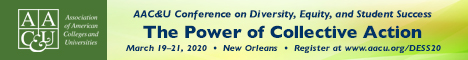 2020 AAC&U Conference on Diversity, Equity, and Student Success | Feb 3-March 19, 2020 (Banner Ad)